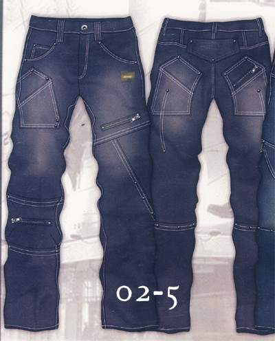 Leather  Cargo Jeans - Style 2-5- 50 Colors