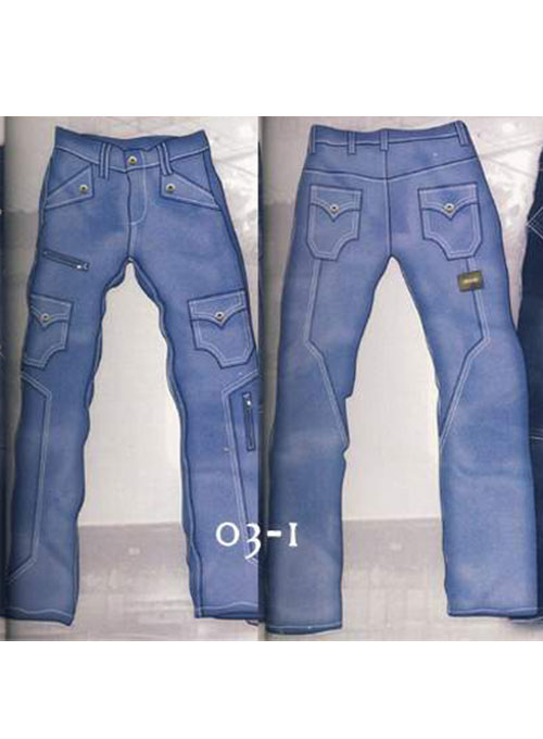 Leather Cargo Jeans - Style 03-1