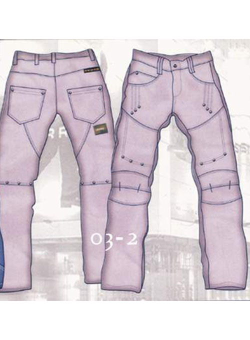 Leather Cargo Jeans - Style 03-2