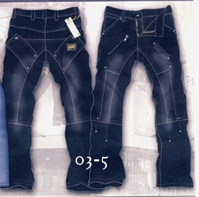 Leather Cargo Jeans - Style 03-5- 50 Colors