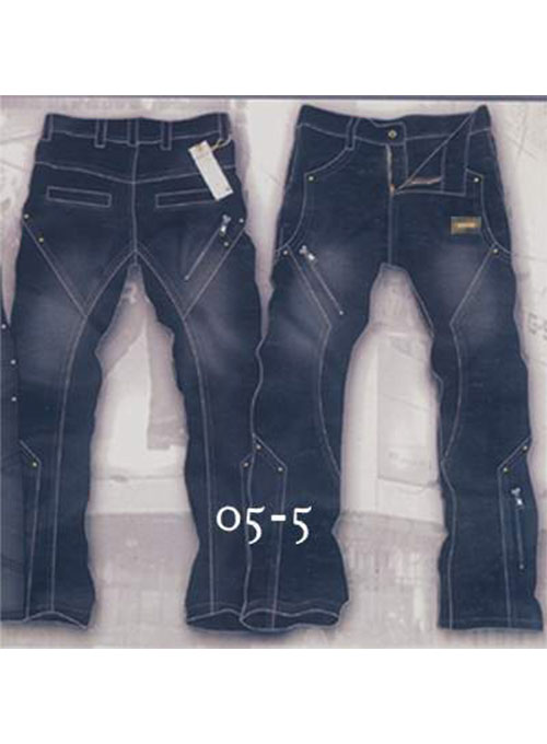 Leather  Cargo Jeans - Style 5-5