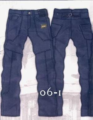 Leather Cargo Jeans - Style 6-1- 50 Colors
