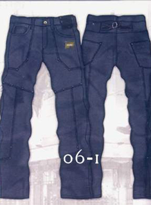 Leather  Cargo Jeans - Style 6-1