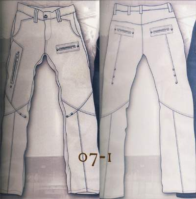 Leather Cargo Jeans - Style 07-1- 50 Colors