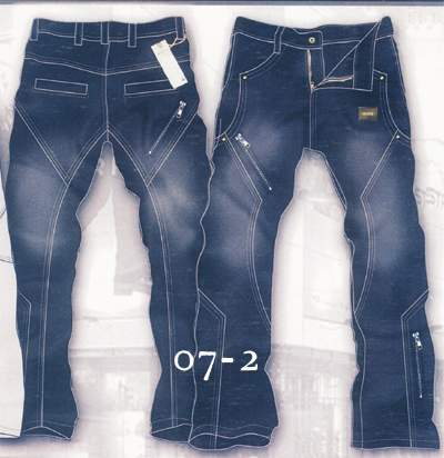 Leather Cargo Jeans - Style 07-2- 50 Colors
