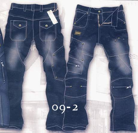 Leather  Cargo Jeans - Style 9-2- 50 Colors