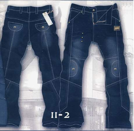 Leather  Cargo Jeans - Style 11-2- 50 Colors