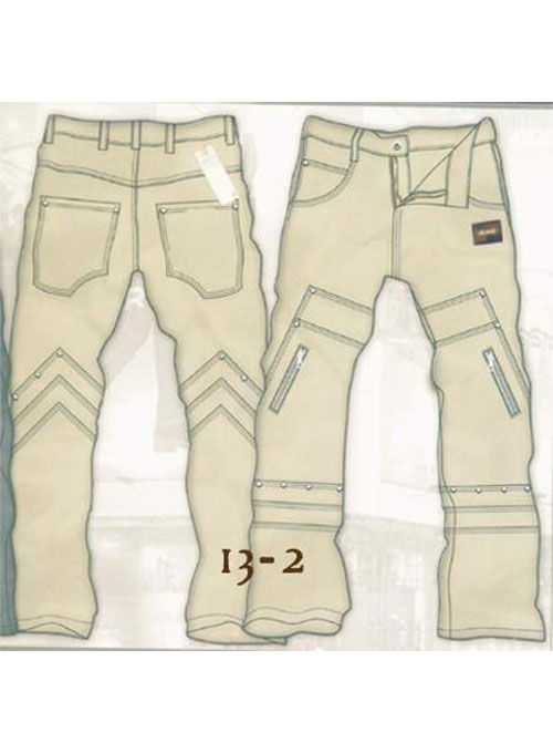 Leather  Cargo Jeans - Style 13-2