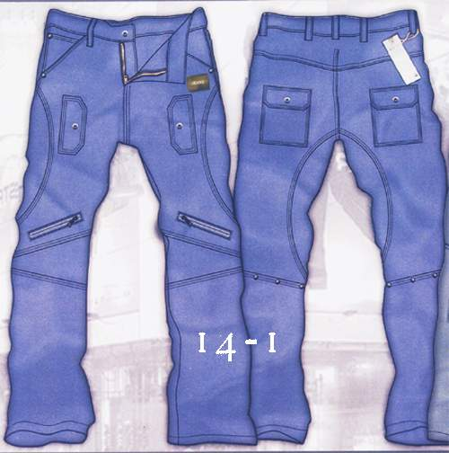 Leather  Cargo Jeans - Style 14-1- 50 Colors