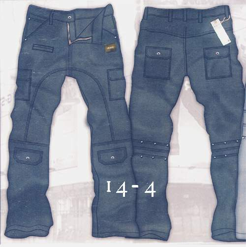 Leather  Cargo Jeans - Style 14-4- 50 Colors