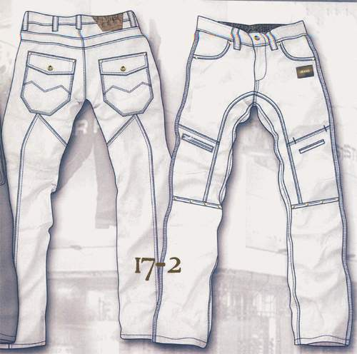 Leather  Cargo Jeans - Style 17-2- 50 Colors