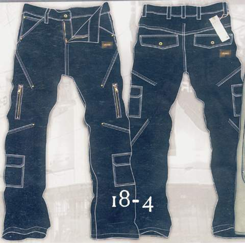 Leather  Cargo Jeans - Style 18-4- 50 Colors