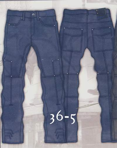 Leather  Cargo Jeans - Style 36-5- 50 Colors