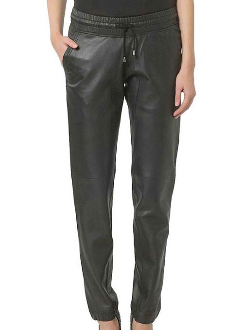 men/man choose newest low price Gym Drawstring Leather Pants 50 Colors