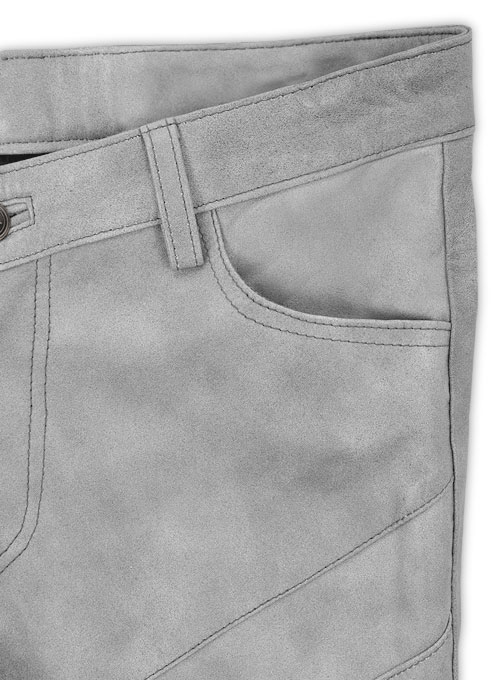 Harbor Gray Leather Biker Jeans #511 - Click Image to Close