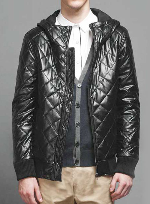 Hooded Leather Jacket # 627