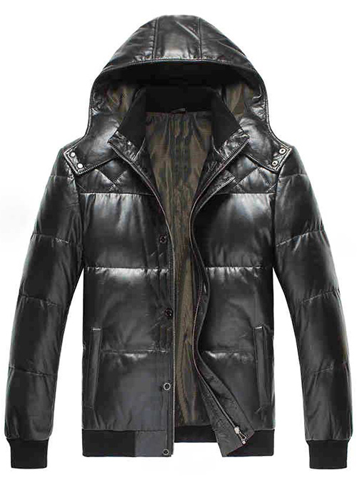 Leather Hood Jacket  # 637