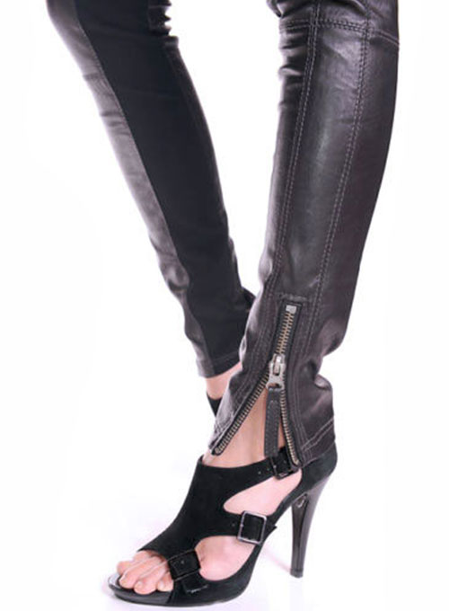Leather  Biker Jeans - Style #502- 50 Colors