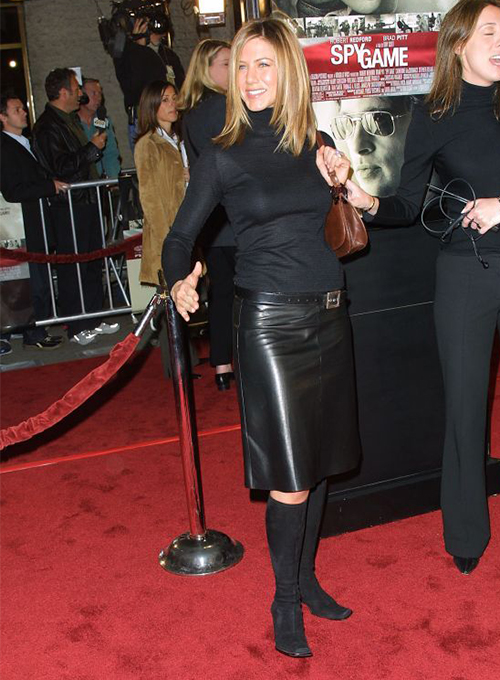 Jennifer Aniston Leather Skirt
