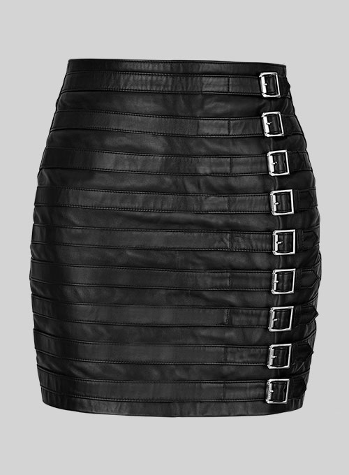 Jennifer Lopez Leather Skirt