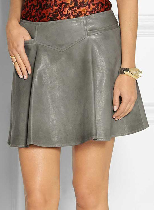 Jessy Flare Leather Skirt - # 194