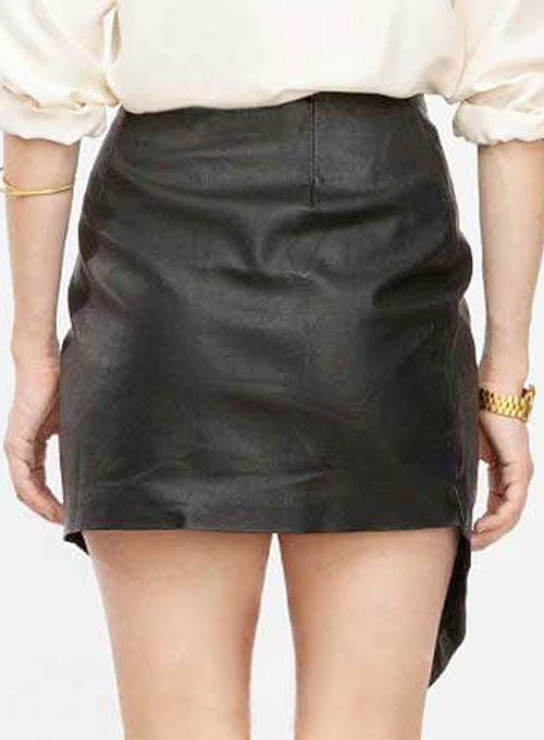 Kerchief Leather Skirt - # 420