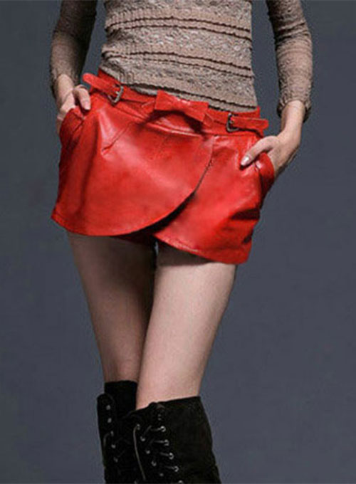 Leaflet Leather Skirt - # 177 - 50 Colors