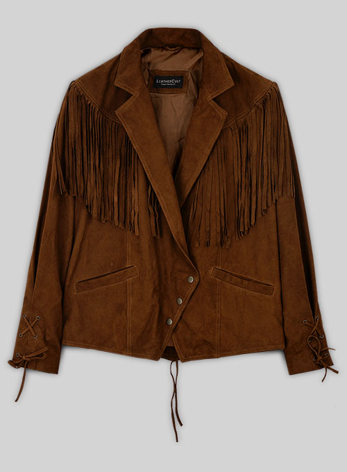 Leather Fringes Jacket #1012