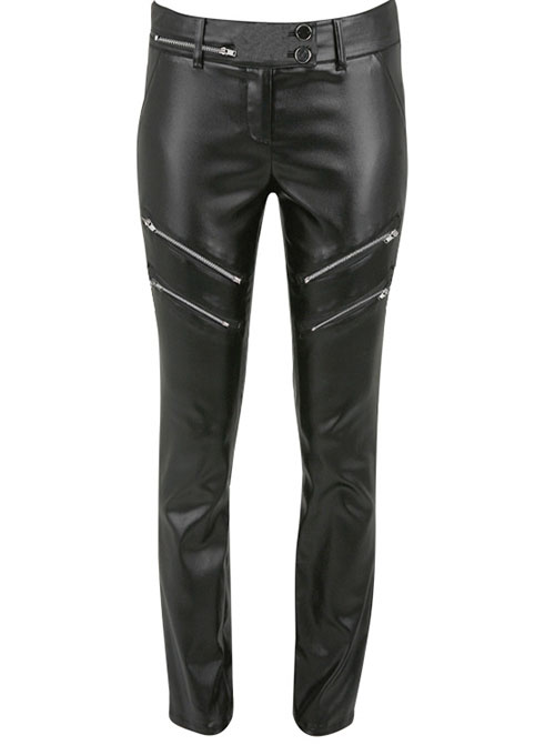 Leather  Biker Jeans - Style #504- 50 Colors
