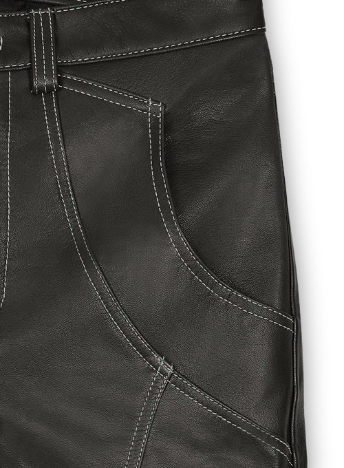 Leather  Cargo Jeans - Style 9-5