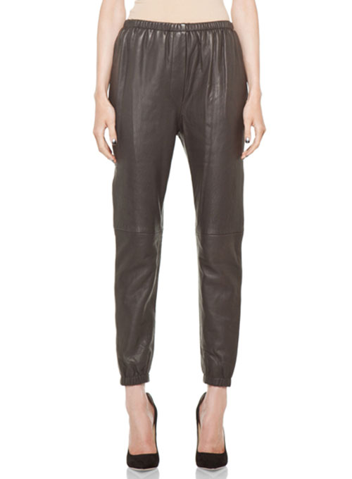 Leather Pants With Elastic