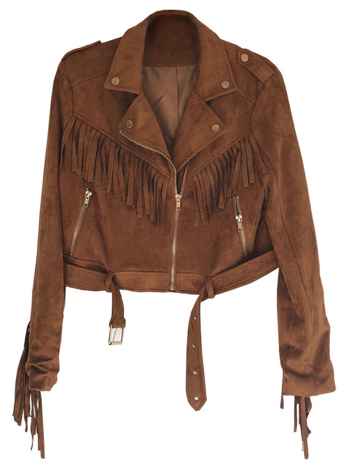 Leather Fringes Jacket #1010