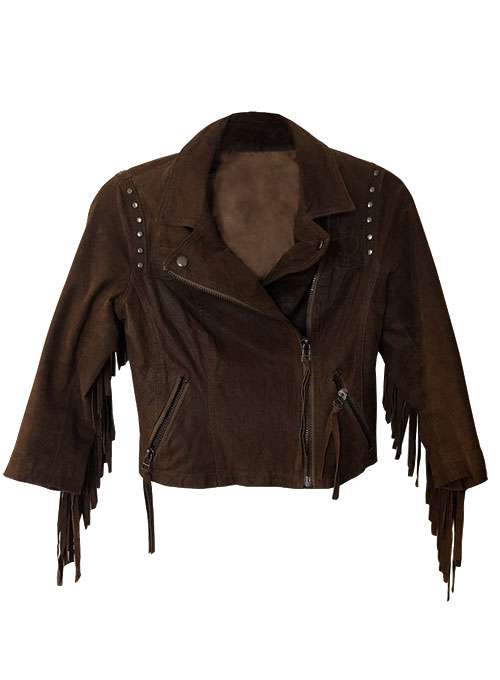 Leather Fringes Jacket #1011