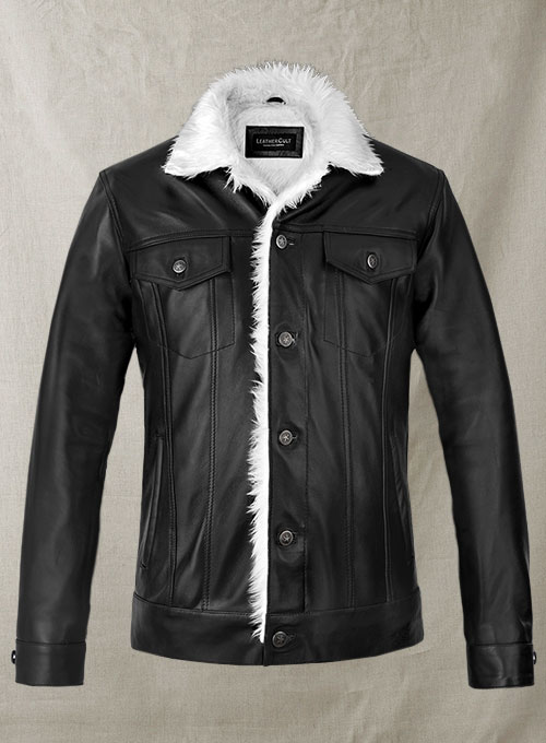 Leather Fur Western Style Jacket