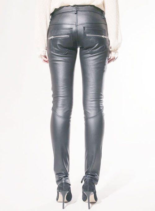 Leather  Biker Jeans - Style #506- 50 Colors