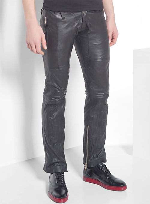 Leather  Biker Jeans - Style #507- 50 Colors