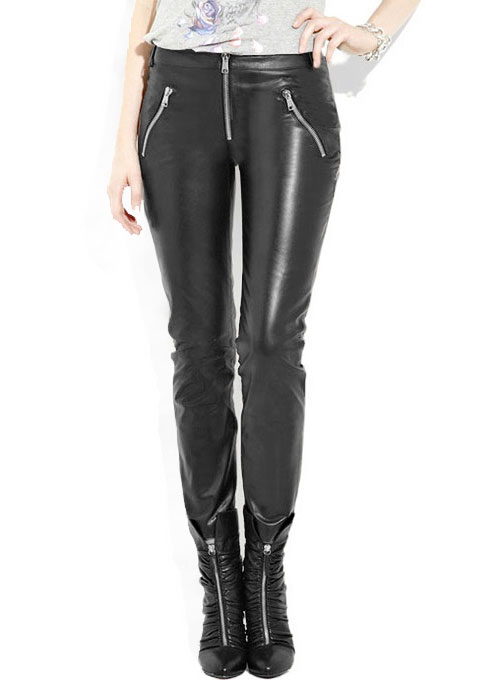 Leather  Biker Jeans - Style #508