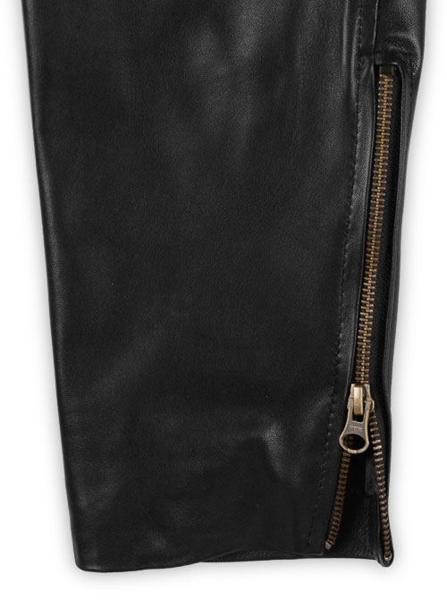 Leather  Biker Jeans - Style #1