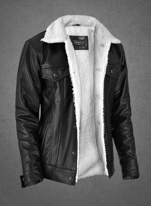 Leather Sherpa Jacket