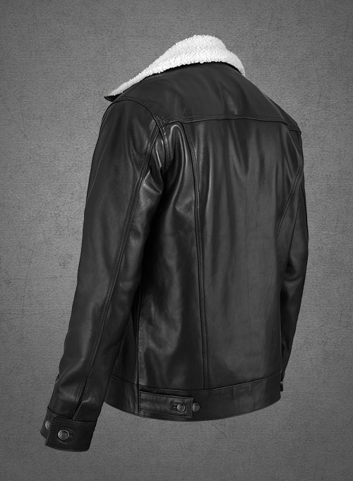 Leather Sherpa Jacket - Click Image to Close