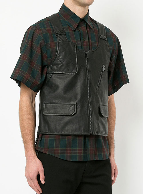 Leather Vest # 332 - Click Image to Close