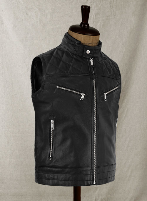 Leather Vest # 353 - Click Image to Close