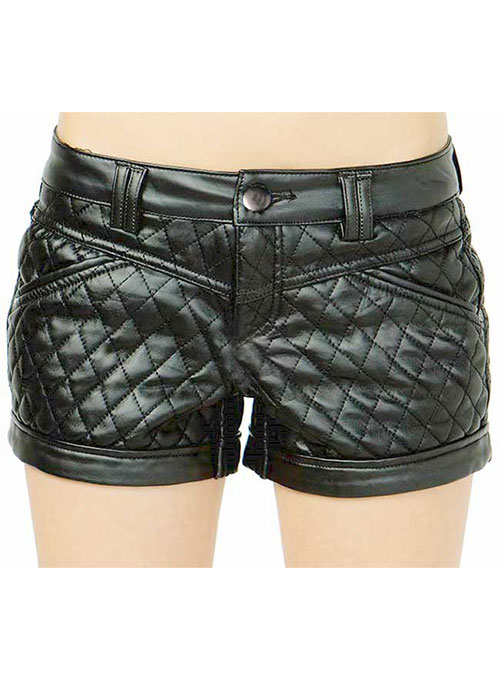 Leather Cargo Shorts Style # 376