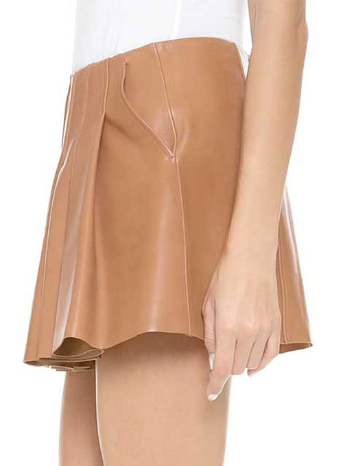 Limelight Flare Leather Skirt - # 462