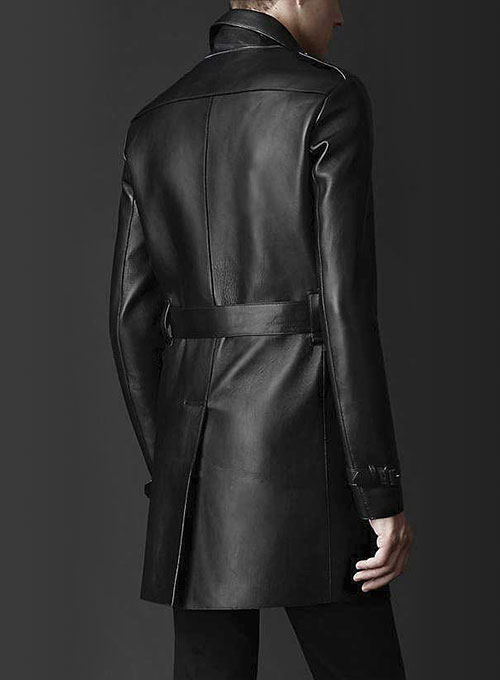 Leather Long Coat #204
