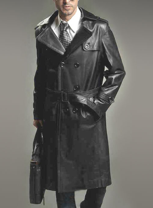 Leather Long Coat #205