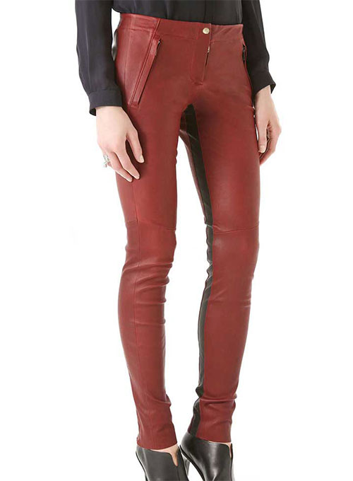 Lucky Stripe Leather Pants- 35 Colors