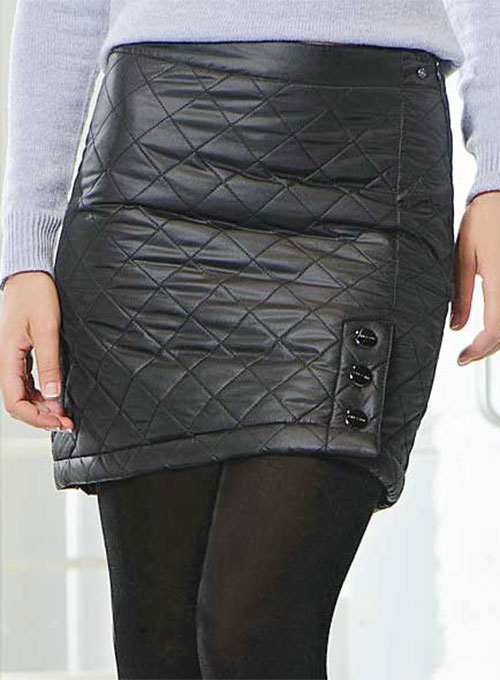Luxury Quilted Leather Skirt - # 433 - 50 Colors