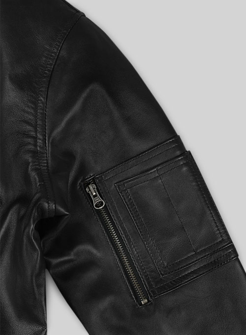 MA-1 Bomber Leather Jacket - Click Image to Close