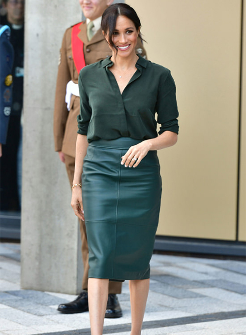 Meghan Markle Leather Skirt